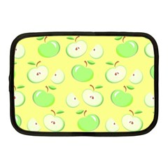 Apples Apple Pattern Vector Green Netbook Case (medium)