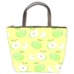 Apples Apple Pattern Vector Green Bucket Bags