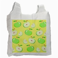 Apples Apple Pattern Vector Green Recycle Bag (two Side)