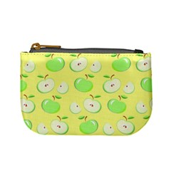 Apples Apple Pattern Vector Green Mini Coin Purses