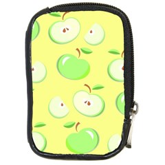 Apples Apple Pattern Vector Green Compact Camera Cases