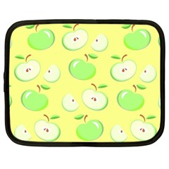 Apples Apple Pattern Vector Green Netbook Case (xl)