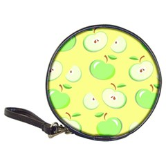 Apples Apple Pattern Vector Green Classic 20-CD Wallets