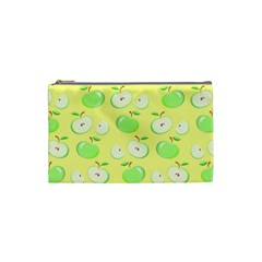 Apples Apple Pattern Vector Green Cosmetic Bag (small)