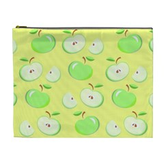 Apples Apple Pattern Vector Green Cosmetic Bag (xl)