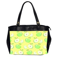 Apples Apple Pattern Vector Green Office Handbags (2 Sides)