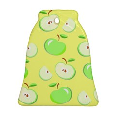 Apples Apple Pattern Vector Green Bell Ornament (Two Sides)