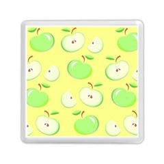 Apples Apple Pattern Vector Green Memory Card Reader (Square)