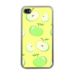 Apples Apple Pattern Vector Green Apple Iphone 4 Case (clear)