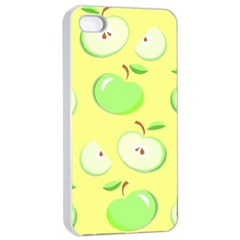 Apples Apple Pattern Vector Green Apple Iphone 4/4s Seamless Case (white)