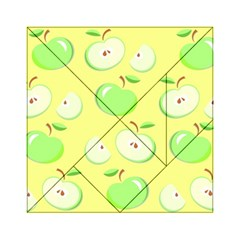 Apples Apple Pattern Vector Green Acrylic Tangram Puzzle (6  X 6 )