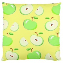 Apples Apple Pattern Vector Green Large Cushion Case (One Side)