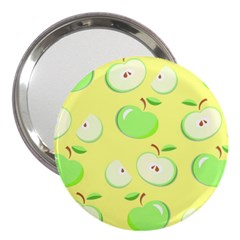 Apples Apple Pattern Vector Green 3  Handbag Mirrors
