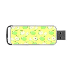 Apples Apple Pattern Vector Green Portable Usb Flash (two Sides)