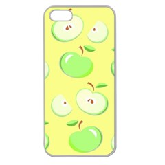Apples Apple Pattern Vector Green Apple Seamless Iphone 5 Case (clear)