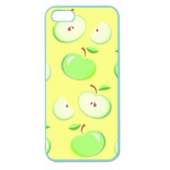Apples Apple Pattern Vector Green Apple Seamless Iphone 5 Case (color)