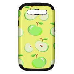 Apples Apple Pattern Vector Green Samsung Galaxy S Iii Hardshell Case (pc+silicone)