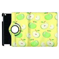 Apples Apple Pattern Vector Green Apple Ipad 3/4 Flip 360 Case