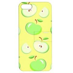 Apples Apple Pattern Vector Green Apple Iphone 5 Hardshell Case With Stand