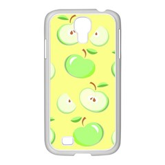 Apples Apple Pattern Vector Green Samsung GALAXY S4 I9500/ I9505 Case (White)