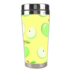 Apples Apple Pattern Vector Green Stainless Steel Travel Tumblers