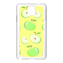 Apples Apple Pattern Vector Green Samsung Galaxy Note 3 N9005 Case (white)