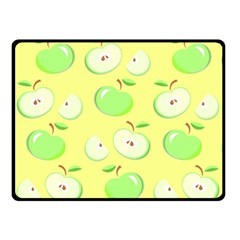 Apples Apple Pattern Vector Green Double Sided Fleece Blanket (small)