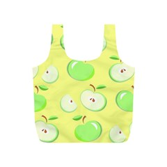 Apples Apple Pattern Vector Green Full Print Recycle Bags (S)