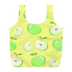 Apples Apple Pattern Vector Green Full Print Recycle Bags (l)