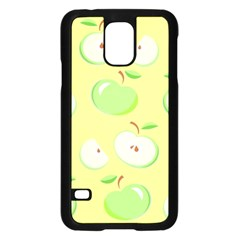 Apples Apple Pattern Vector Green Samsung Galaxy S5 Case (Black)