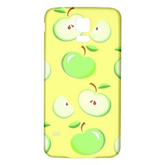 Apples Apple Pattern Vector Green Samsung Galaxy S5 Back Case (White)