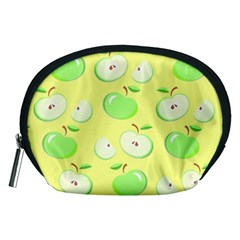 Apples Apple Pattern Vector Green Accessory Pouches (medium)