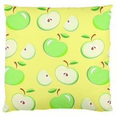 Apples Apple Pattern Vector Green Large Flano Cushion Case (Two Sides)