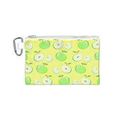 Apples Apple Pattern Vector Green Canvas Cosmetic Bag (s)