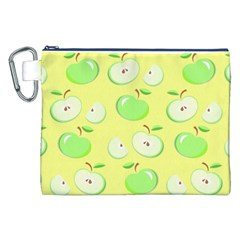 Apples Apple Pattern Vector Green Canvas Cosmetic Bag (xxl)