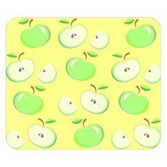 Apples Apple Pattern Vector Green Double Sided Flano Blanket (Small)
