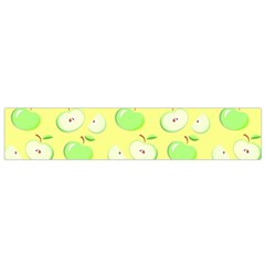 Apples Apple Pattern Vector Green Flano Scarf (Small)