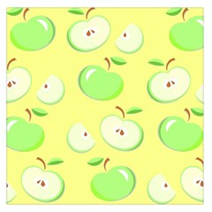 Apples Apple Pattern Vector Green Large Satin Scarf (Square)