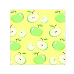 Apples Apple Pattern Vector Green Small Satin Scarf (Square)