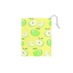 Apples Apple Pattern Vector Green Drawstring Pouches (XS)