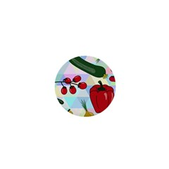 Vegetables Cucumber Tomato 1  Mini Buttons