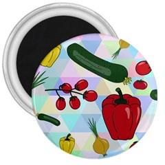 Vegetables Cucumber Tomato 3  Magnets