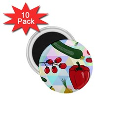 Vegetables Cucumber Tomato 1 75  Magnets (10 Pack)