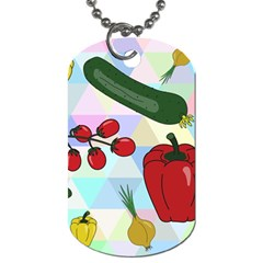 Vegetables Cucumber Tomato Dog Tag (one Side)