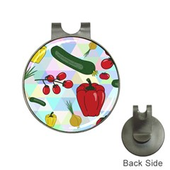 Vegetables Cucumber Tomato Hat Clips With Golf Markers