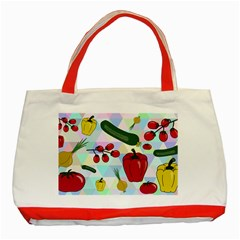 Vegetables Cucumber Tomato Classic Tote Bag (Red)