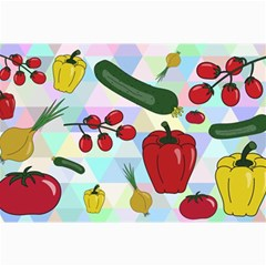 Vegetables Cucumber Tomato Canvas 24  x 36