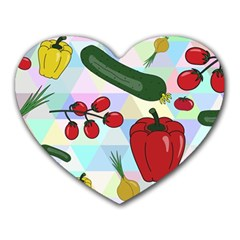 Vegetables Cucumber Tomato Heart Mousepads