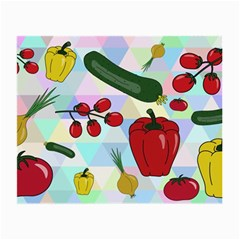 Vegetables Cucumber Tomato Small Glasses Cloth (2-Side)