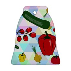 Vegetables Cucumber Tomato Ornament (bell)